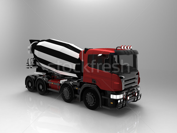 concrete mixer on a grey background Stock photo © njaj