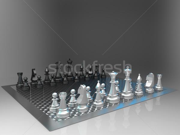 шахматам серый войны власти успех солдата Сток-фото © njaj