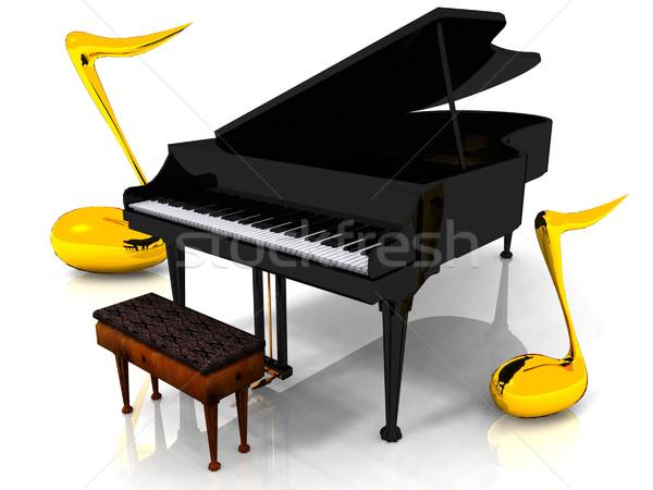 piano and notes Stock photo © njaj