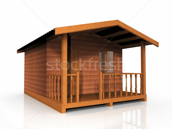 木製 小屋 白 ツリー 建物 木材 ストックフォト © njaj