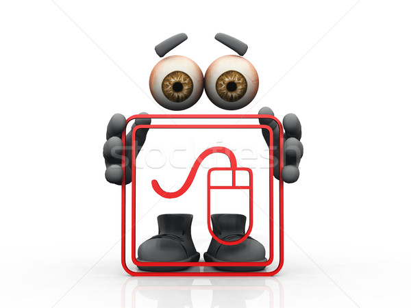 Myszą logo niewidoczny człowiek oczy mężczyzn Zdjęcia stock © njaj