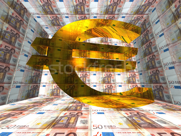 Euro símbolo assinar financiar financeiro Foto stock © njaj