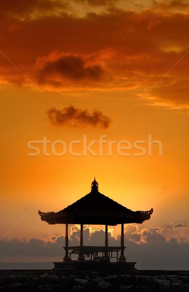Naplemente Bali tengerpart nap természet tenger Stock fotó © njaj