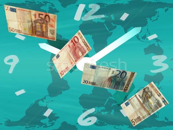 Il tempo è denaro soldi clock abstract tempo contanti Foto d'archivio © njaj
