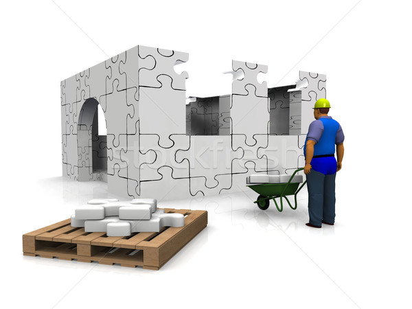 house building Stock photo © njaj