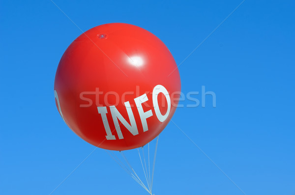 Pallone info arte help informazioni nastro Foto d'archivio © njaj