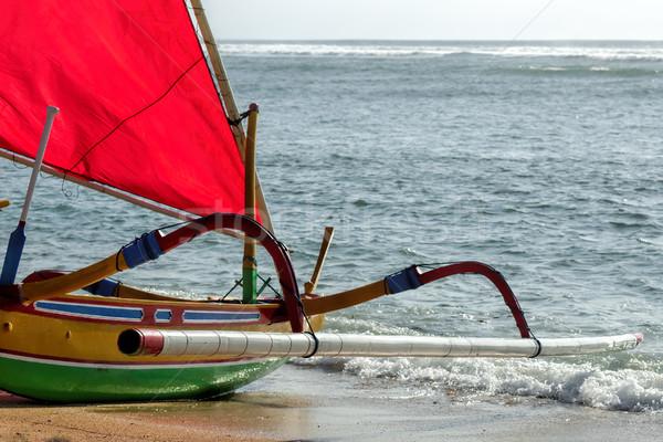Visser boot bali strand water vis Stockfoto © njaj