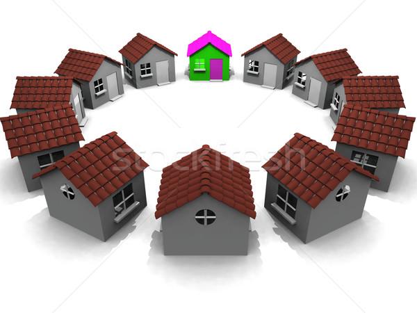 round the houses Stock photo © njaj