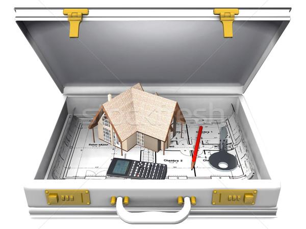 home and briefcase Stock photo © njaj