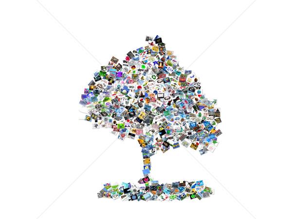 the tree of multiple images Stock photo © njaj