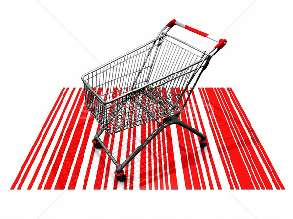 the shopping cart and the bar  codes Stock photo © njaj