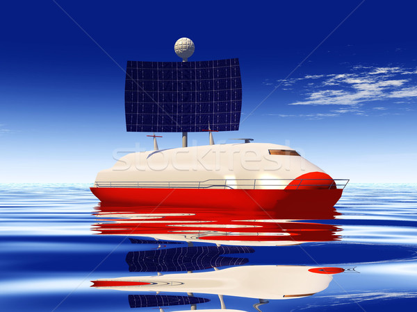 solar cell boat Stock photo © njaj