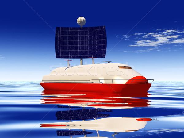 solar cell boat Stock photo © njaj