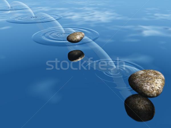 Water hemel voorjaar natuur zee achtergrond Stockfoto © njaj