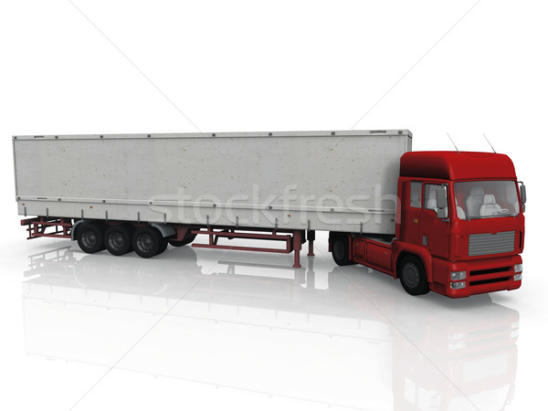 red truck on a white background Stock photo © njaj