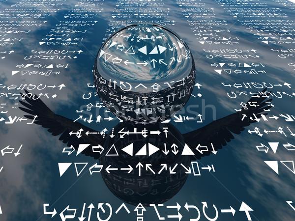 Piłka komunikacji informacji Bańka pojęcia język Zdjęcia stock © njaj