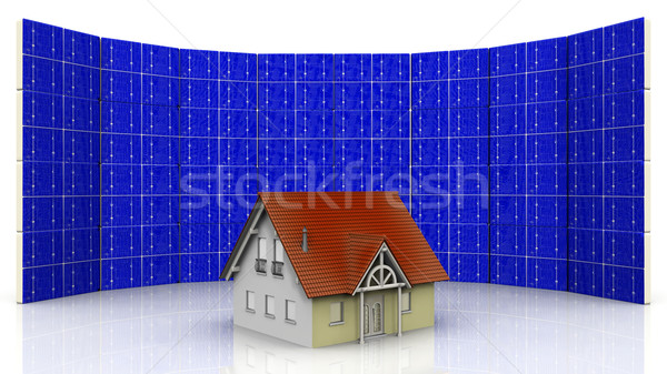 house and solar cell Stock photo © njaj