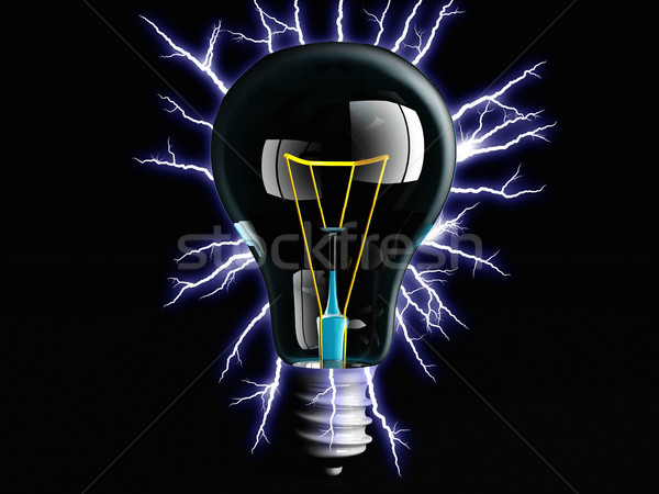 incandescent light bulb and electric arc Stock photo © njaj