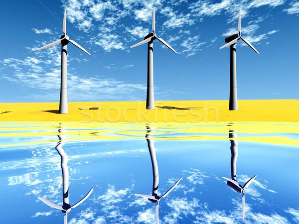 wind turbine Stock photo © njaj