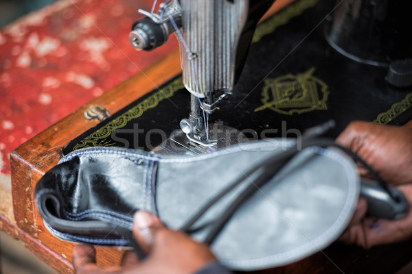 artisan shoemaking Stock photo © njaj