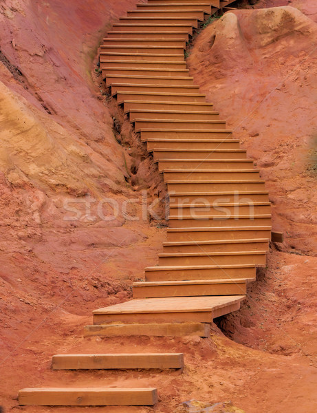 ochres of Roussillon and stairs Stock photo © njaj