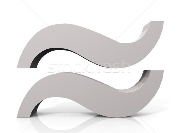 Logo blanche design graphique identité Photo stock © njaj