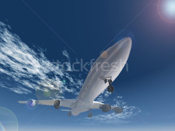 the plane which lands Stock photo © njaj