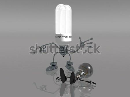 Hernieuwbare energie gloeilamp technologie energie witte elektriciteit Stockfoto © njaj