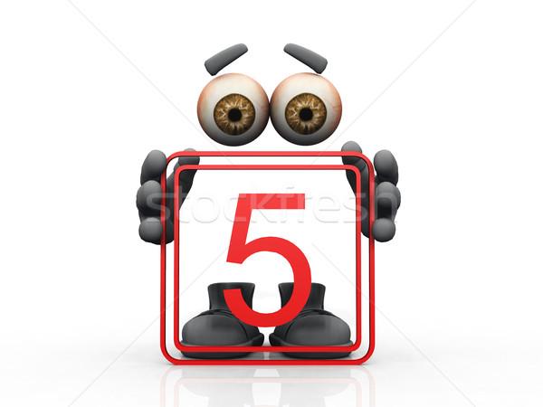 öt logo láthatatlan férfi szemek férfiak Stock fotó © njaj