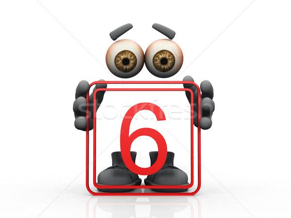 six symbol on a white background  Stock photo © njaj