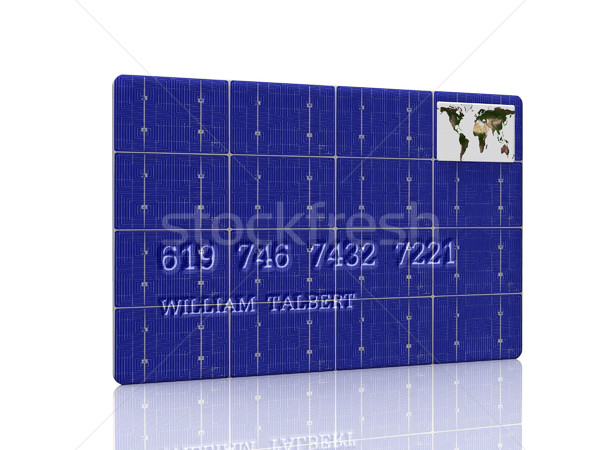 credit card and solar cell Stock photo © njaj