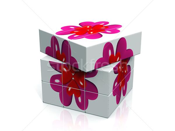 Szív doboz Stock fotó © njaj