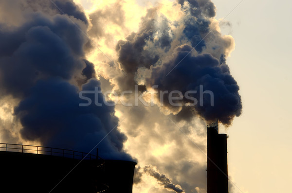 chimney and smoke Stock photo © njaj