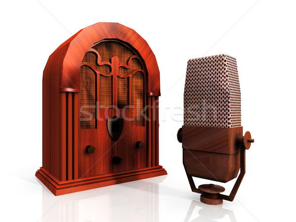 radio and microphone Stock photo © njaj