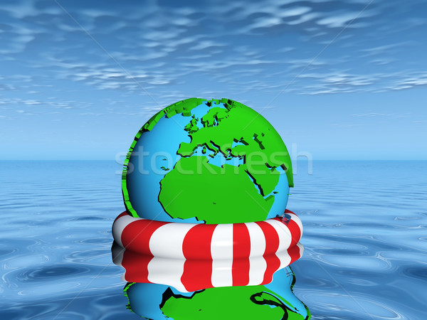 save  the earth from drowning Stock photo © njaj