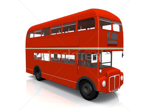 red English  bus on white background Stock photo © njaj