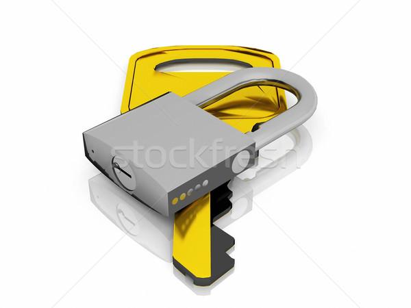 ключевые блокировка бизнеса безопасности безопасности чрезвычайных Сток-фото © njaj