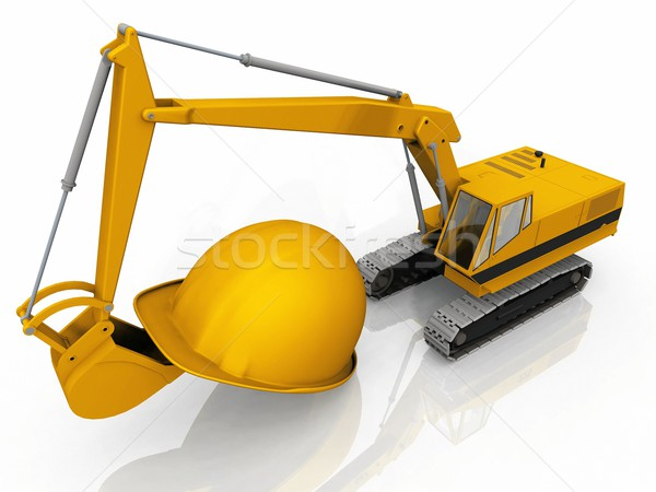 the excavator and the helmet Stock photo © njaj