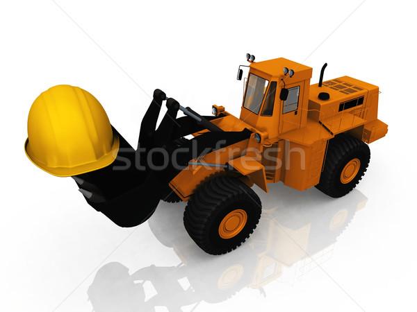 the loader and the helmet Stock photo © njaj