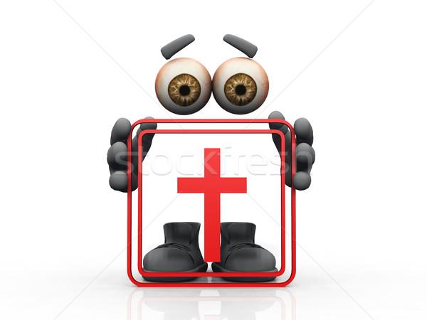 cross symbol on a white background  Stock photo © njaj