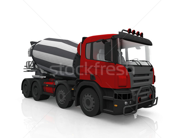 concrete mixer  truck on white background Stock photo © njaj