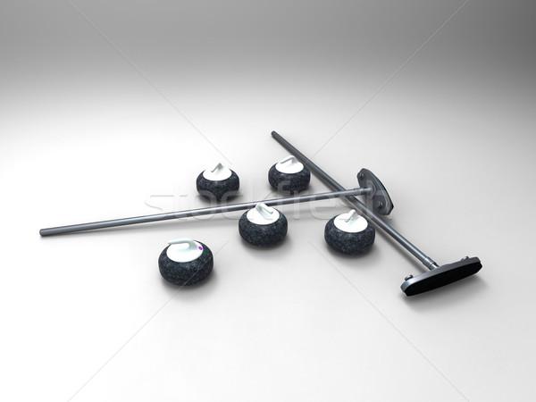 the curling Stock photo © njaj