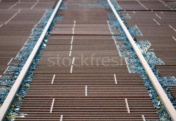 Iş Metal çelik taşıma taşımacılık demiryolu Stok fotoğraf © njaj