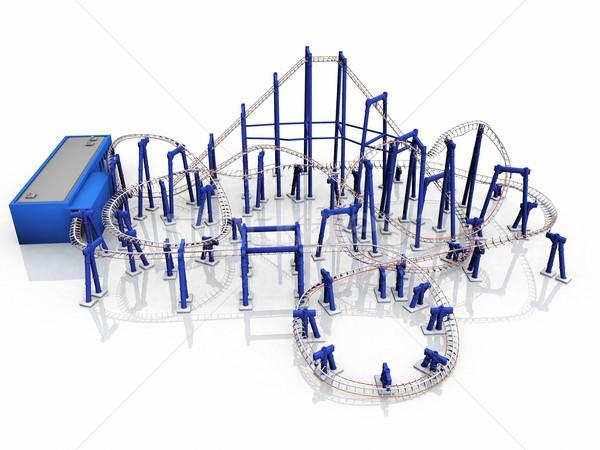 Stock photo: rollercoaster  ride