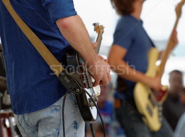 Stock photo: guitarist