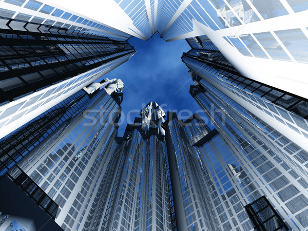 the  building height Stock photo © njaj