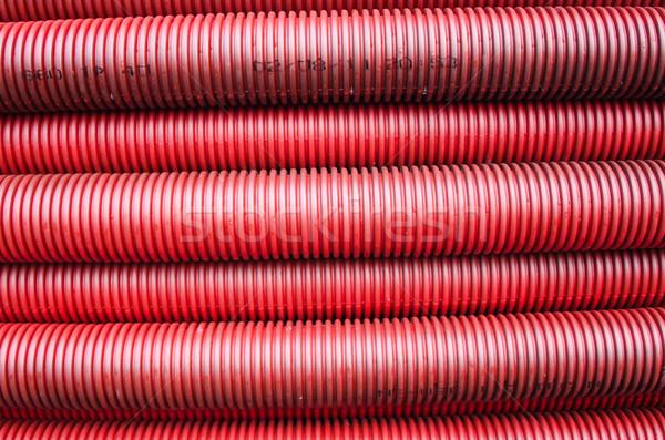 Vermelho tubulação construção tecnologia viajar cor Foto stock © njaj