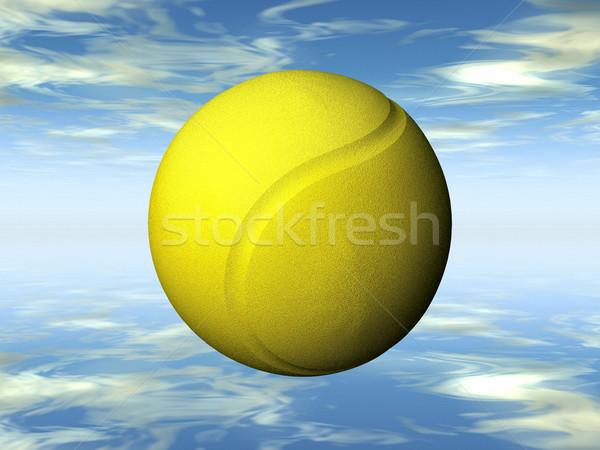 Tennisbal Geel sport bal oefening spelen Stockfoto © njaj