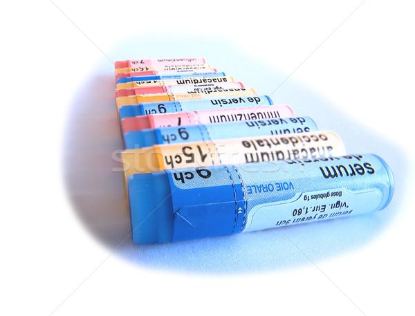 Homeopatycznych narkotyków biały medycznych zdrowia opieki Zdjęcia stock © njaj