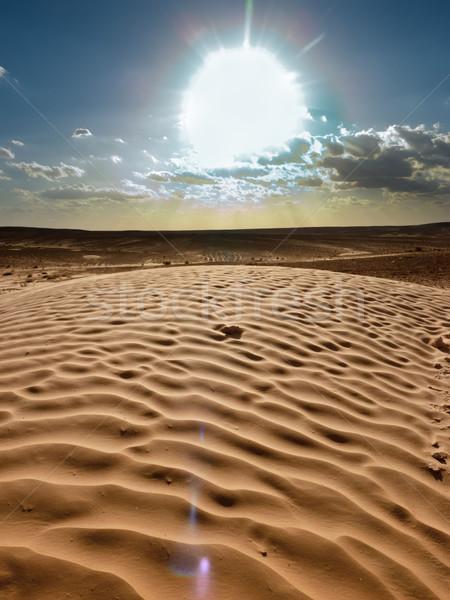 sand waves in the desert Stock photo © njaj